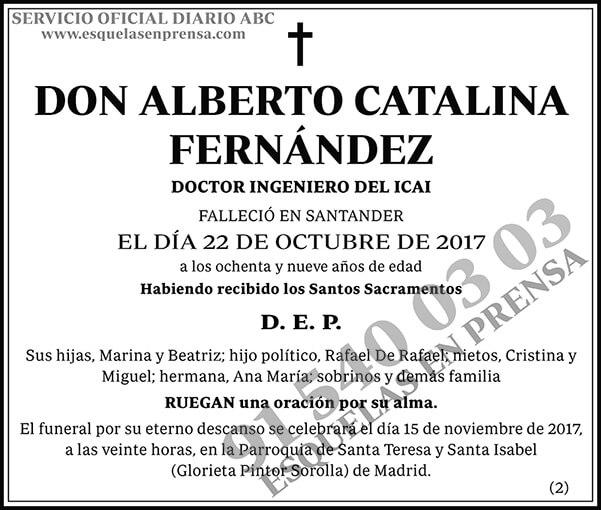 Alberto Catalina Fernández